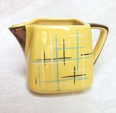 Yellow 1950s Eames Era Stanford Sebring Creamer by LinensandThings on Etsy, $26.00                                                                                                                                                                                 More