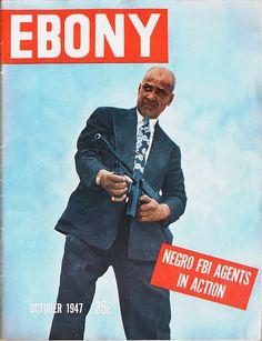Negro FBI Agents in Action - Ebony Magazine, October, 1947, via Flickr.