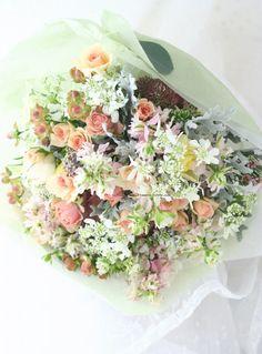 草花の花束 : 一会 ウエディングの花