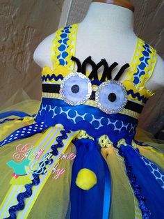 despicable me party ideas Despicable me inspired tutu dressminion tutu by GlitterMeBaby, $65.00