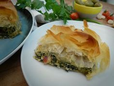 We have a rather large amount of rainbow chard that's suddenly had a growth spurt that needs using up, which reminded me that one of my favourite dishes is Spanakopita. That classic Gree…