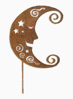 Moon Garden Stake / Garden Art / Garden by RusticaOrnamentals, $38.99