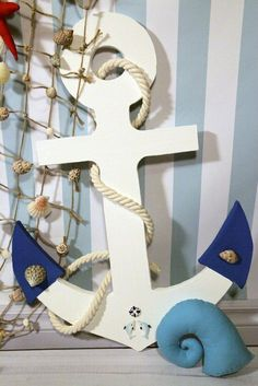Якорь, HandMade. Sailor Theme, Sailor Baby, Nautical Wedding Theme, Nautical Party, Boy Birthday, Birthday Parties, Nautical Room Decor, Estilo Navy, Anchor Baby Showers