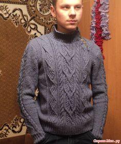 Пуловер с рельефным узором (он-лайн) - Страна Мам