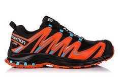 Scarpe Trail Running SALOMON XA PRO 3D GTX® black - tomato red - blue line UK 6.5 - 40 (a  volte potrebbe capitare che la scarpa ordinata non sia in magazzino  perchè venduta in negozio e non ancora scaricata da ebay, in quel caso  provvederemo subito al riaccredito della cifra spesa) Scarpe Trail Running SALOMON XA PRO 3D GTX® black - tomato red - blue line (l'arancione è un pò più vivo rispetto all'immagine)SALOMON XA PRO 3D GTX COLORE: REF. 378331La collaudata scarpa da adv