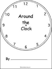 Telling time book for emergent readers