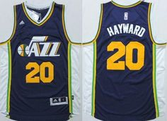 Utah Jazz #20 Gordon Hayward Revolution 30 Swingman 2014 New Navy Blue Swingman Jersey