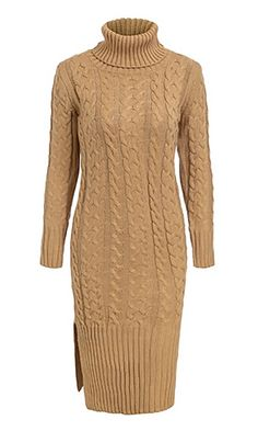 Warming Things Up Long Sleeve Cable Knit Ribbed Turtleneck Casual Midi Sweater Dress - 7 Colors Available Cable Knit Sweater Dress, Long Sleeve Sweater Dress, Ribbed Turtleneck, Knit Dress, Nordstrom Dresses, Crochet Clothes, Turtle Neck, Casual, Sweaters