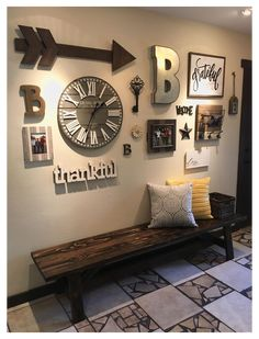 Decoration Palette, Family Wall Decor, Family Room Walls, Rustic Walls, Rustic Decor, Large Rustic Wall Decor, Large Wall Decorations, Decorating A Large Wall In Living Room, How To Decorate Living Room