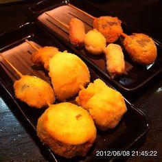 120608 居酒屋ほくと@国分寺 串揚げ #居酒屋 #串揚げ #kushiage #japanesefood - @ogu_ogu- #webstagram