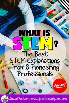 What is STEM? I'm so excited to share with you the wisdom that 8 generous STEM educators have shared for teachers who want clarity as to what STEM is. Stem Teacher, Teacher Blogs, Elementary Teacher, Teacher Resources, Elementary Education, Kids Education, Teacher Stuff, Teaching Ideas, Stem Activities