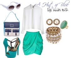 A Hint of Blue, created by imari-cimafranca on Polyvore