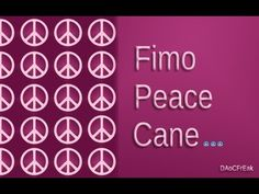 FIMO Friedens-Cane: Polymer Peacesign - Tutorial [HD/deutsch] - YouTube