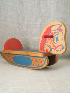 Horse / Rocking Horse / Vintage Wooden Toy Rocking Horse / Horse Toy / Wooden…