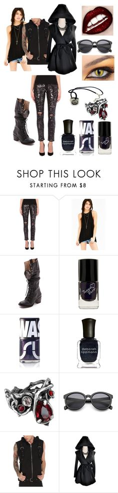 """""""Magnus Bane combat outfit"""" by hmmong ❤ liked on Polyvore featuring Maje, Project Social T, Steven by Steve Madden, Uslu Airlines, Deborah Lippmann and Tripp"""