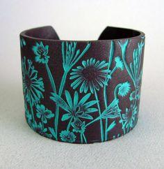 Cuff Bracelet Polymer Clay Jewelry Handmade Art by PolymerPlayin