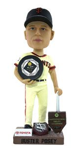 Saturday, April 6th, Buster Posey will receive his 2012 MVP Trophy in a special pregame ceremony.  The 1st 40,000 fans will receive their very own Buster Posey #MVPosey Trophy