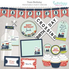 #Train-Party Printables  PDF files for by whirligigspartyco on Etsy