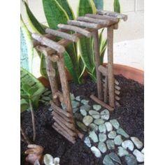 "Fairy Garden ""Miniature Twig Arbor"""