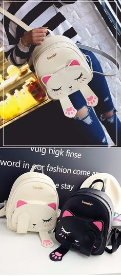 Discover recipes, home ideas, style inspiration and other ideas to try. Mini Mochila, Animal Backpacks, Cute Backpacks, My Bags, Purses And Bags, Korean Accessories, Back Bag, Designer Shoulder Bags, Kids Bags