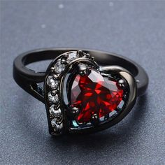 Charming Heart Cut - Black Gold Filled