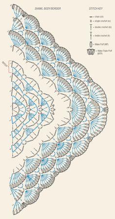 Crochet Scarf Diagram, Crochet Bolero, Crochet Cape, Crochet Shawls And Wraps, Crochet Scarves, Crochet Clothes, Crochet Stitches, Crochet Storage, Mode Crochet