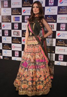 Colourful At Telenor Bridal Couture Week Pakistani Couture, Indian Couture, Pakistani Outfits, Indian Outfits, Indian Attire, Indian Ethnic Wear, Bcbg, Desi Clothes, Indian Clothes