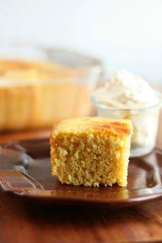 Cornbread (lightened up) and Whipped Honey Butter by cookingclassy #Cornbread #Light #Honey_Butter #cookingclassy