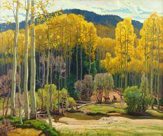 Ernest Martin Hennings (1886 – 1956) 'Along The Rio Hondo Stream'