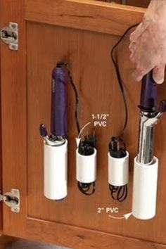 PVC pipe hair supply holders