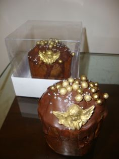 designer mini cakes | Tatiana Bonotto – Cake Designer » mini panetone trufado e decorado