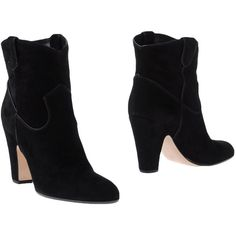 Gianvito Rossi Ankle Boots ($357) ❤ liked on Polyvore featuring shoes, boots, ankle booties, black, black leather bootie, black leather ankle booties, black booties, leather ankle booties and ankle boots