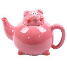 3D Shaped Pink Pig Teapot