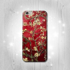 Red Blossoming Almond Tree Van Gogh iPhone 6S 6 Plus 6 5 5S 5C 4 4S Htc One M8 M7 X Samsung Galaxy S6 Edge+ S5 S4 S3 mini Note 5 4 3 2 Case