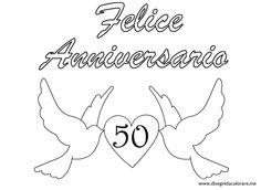 "scritta "" Felice Anniversario 50 """