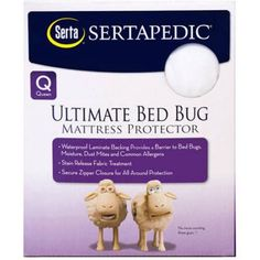 Enjoy ultimate protection from bed bugs by surrounding your mattress with the Serta pedic Ultimate Protection Bed Bug Mattress Encasement . This mattress. Full Size Mattress, Bed Mattress, Bed Bugs, Dust Mites, Mattress Protector, Bed Sizes, Good Night Sleep, How To Plan, Washing Machine