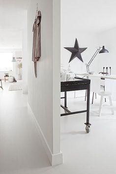 Gietvloer Voordelen: makkelijk schoon te maken, juiste afmetingen. Nadelen: kras gevoelig, Verkleur gevoelig