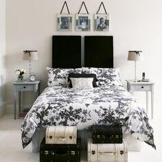 Hotel chic | Home Black & white decor | Pinterest | Schlafzimmer ...