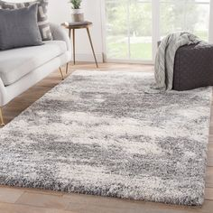 Williston Forge Manhart Abstract Gray/Beige Area Rug Rug Size: Runner x Kids Area Rugs, Living Room Area Rugs, Living Room Grey, Living Room Carpet, Room Rugs, Rv Living, Small Living, Dining Room, Grey And White Rug