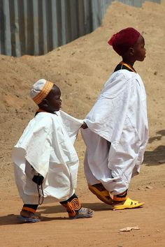 """It's my brother's first visit and he is a little nervous"" Visiting the mosque on the first Friday of the New Year. N'Gaoundéré, Adamawa region of Cameroon 