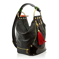 """""""Oh, you""""ll just love Kate Spade handbags! Being a skeptic, I started to educate myself on these bags before I decided to make a purchase. Luxury Handbags, Fashion Handbags, Designer Handbags, Italian Handbags, Shoulder Sling, Leather Purses, Leather Bags, Leather Design, Black Leather"""
