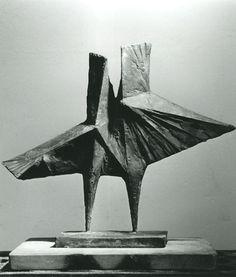 """Stranger  1967  Bronze HC/4  15 x 18 x 5"""" by Lynn Chadwick"""