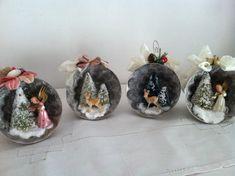 Vintage inspired Christmas angel diorama ornament by jtjujubees
