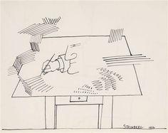 Ink (Drawing table) II by Saul Steinberg