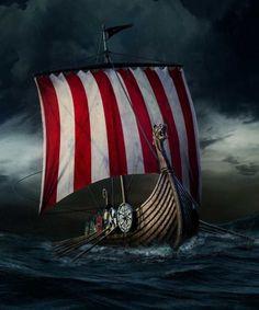 Norse longboat, going on a Viking. Viking Ship Tattoo, Norse Tattoo, Viking Tattoos, Warrior Tattoos, Armor Tattoo, Viking Life, Viking Art, Viking Symbols, Viking Woman