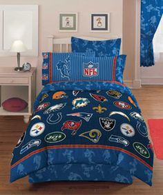 Genial U003cbru003e U003cliu003eShow Your Love For Football With This NFL Playoff Comforter Set  U003cliu003eBedding Features Logos Of Many NFL Teams, Including The Indianapolis  Colts And ...