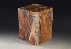 Glitz Stool Teak Wood/Clear Color