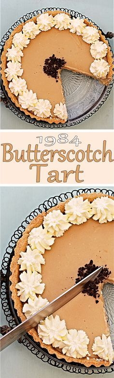 Let's time travel with this retro 1984 Butterscotch Tart!