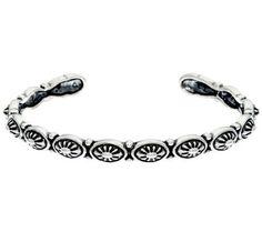 Sterling Silver Concha Cuff Bracelet by American West 13.5g