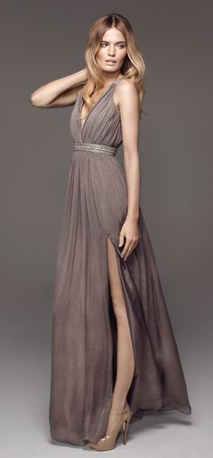 Rosita in Taupe long dress (in Jul 2012). Love this colour!